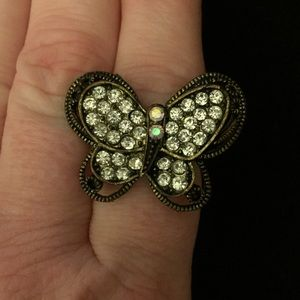 Vintage Adjustable Butterfly Ring